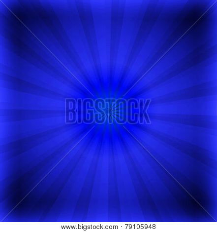 Dark blue ray background with lens