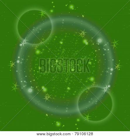 Green Light and Glitter Stars