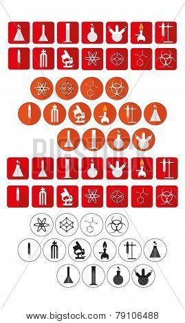 laboratory icons set