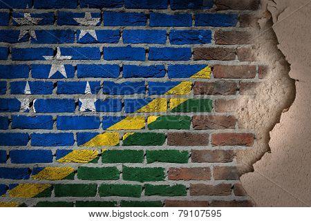 Dark Brick Wall With Plaster - Solomon Islands