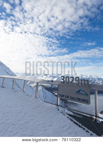 Observation Deck On The Glacier