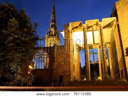 Coventry Cathedral ruin.