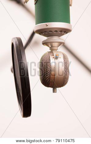 music studio microphone