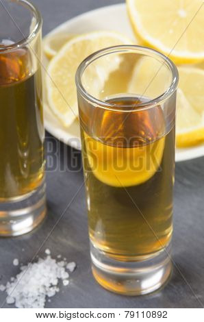Tequila In A Shot Glass