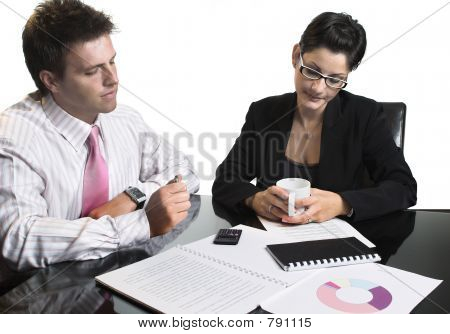 Business meeting - isolated
