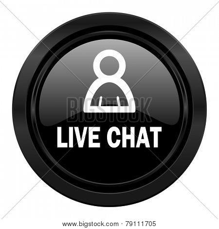 live chat black icon
