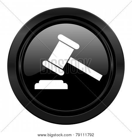 auction black icon court sign verdict symbol