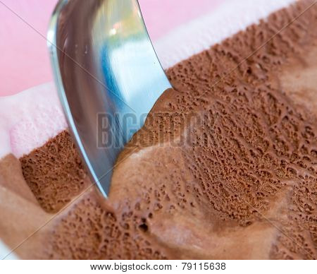Chocolate Ice Cream Means Frozen Yogurt And Dessert