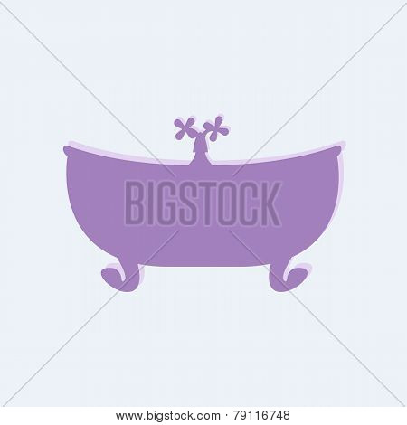 Violet Bathtub With Tap