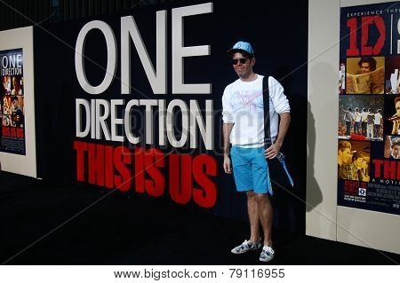 NEW YORK-AUG 26: Blogger Perez Hilton attends the New York premiere of 'One Direction: This Is Us' at the Ziegfeld Theater on August 26, 2013 in New York City.