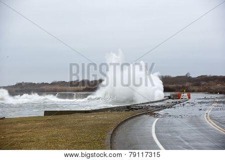 Storm Smashes Coast