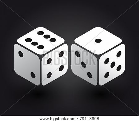 Two Dices In The Isometric Third Dimension
