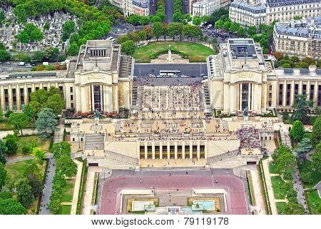 Trocadero Gardens And The Palais De Chaillot