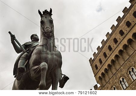 Cosimo De Medici Equestrial Statue