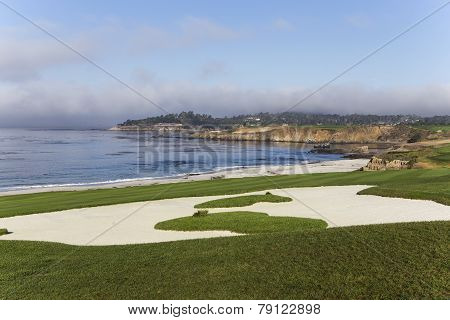Pebble Beach golf course, Monterey, California, USA