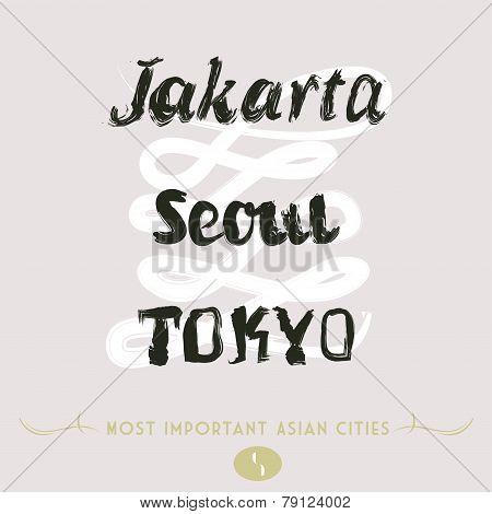 Jakarta Seoul Tokyo