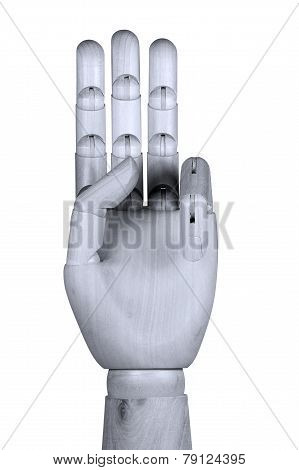 Showing Three Fingers