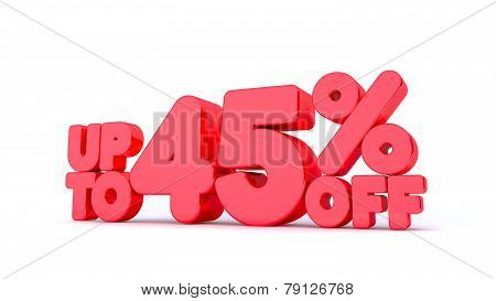 Up to 45% Off 3D Render Red Word Isolated in White Background