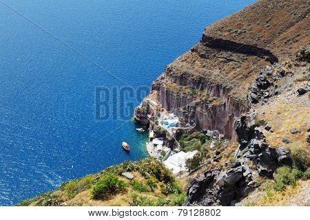The View On Aegean Sea, Santorini Island, Greece