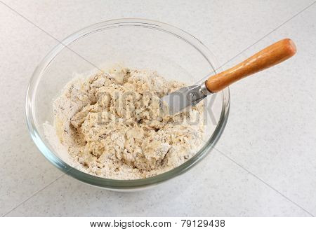 Mixing Malted Bread Mix With A Palette Knife