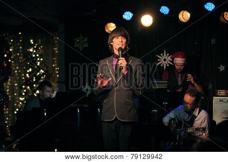 LOS ANGELES - DEC11: Emerson Collins at Scott Nevins Presents SPARKLE: An All-Star Holiday Concert to benefit The Actors Fund at Rockwell Table & Stage on December 11, 2014 in Los Angeles, California