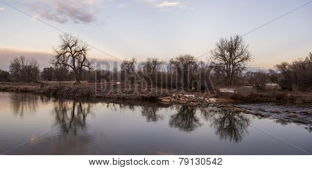 Reflections On The St. Vrain At Dawn