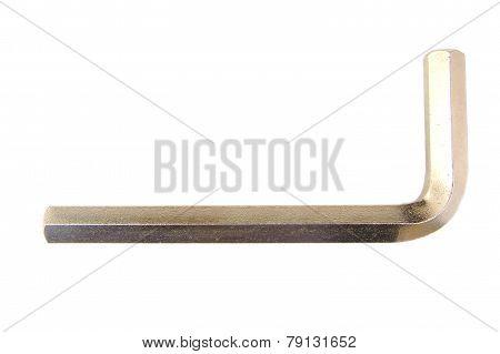 Close-up of big Allen key