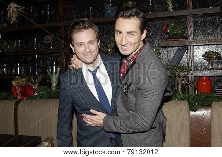 LOS ANGELES - DEC11: Tom Lenk, Scott Nevins at Scott Nevins Presents SPARKLE: An All-Star Holiday Concert to benefit The Actors Fund at Rockwell Table & Stage on December 11, 2014 in Los Angeles, CA