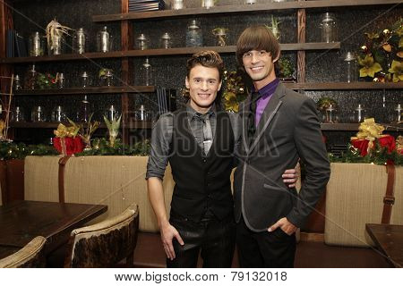 LOS ANGELES - DEC11: Blake McIver, Emerson Collins at SPARKLE: An All-Star Holiday Concert to benefit The Actors Fund at Rockwell Table & Stage on December 11, 2014 in Los Angeles, California