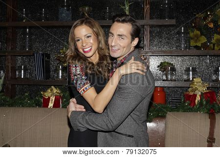 LOS ANGELES - DEC11: Lexi Lawson, Scott Nevins at SPARKLE: An All-Star Holiday Concert to benefit The Actors Fund at Rockwell Table & Stage on December 11, 2014 in Los Angeles, California
