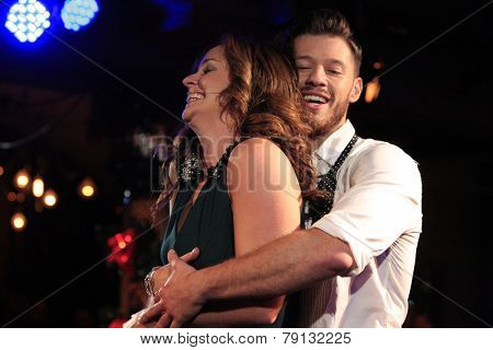 LOS ANGELES - DEC11: Ginifer King, Constantine Rousouli at Scott Nevins Presents SPARKLE: An All-Star Holiday Concert to benefit The Actors Fund on December 11, 2014 in Los Angeles, California