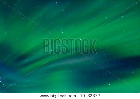 Streaks Of Green Auroras