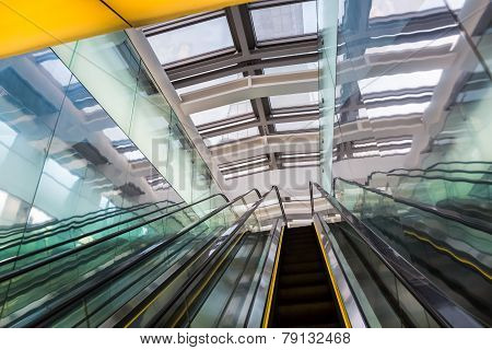 Escalator In A Modern Building