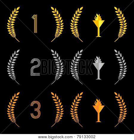 Finishing Places Laurel Wreaths 2