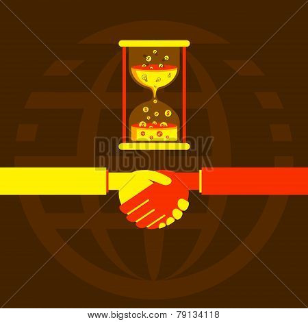time is money concept design vector