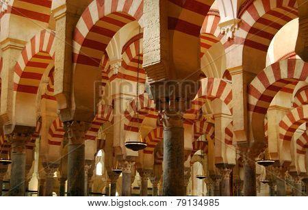 Mezquita prayer hall, Cordoba.