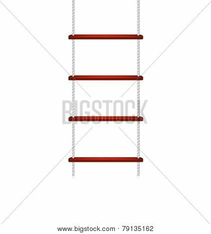 Rope ladder in white and red design