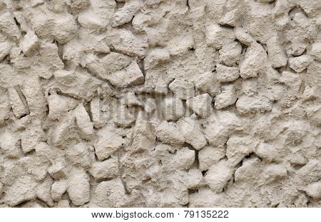 seamless crushed stone in cement, plaster wall texture