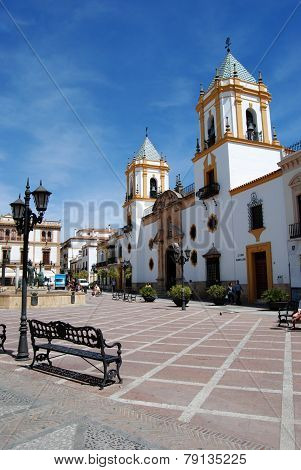 Ronda church and town square.