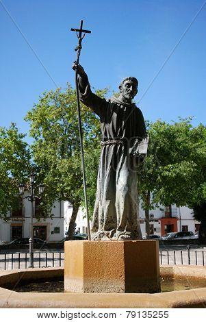 Monk statue, Ronda.
