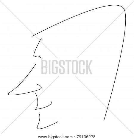 Stylized Man Profile