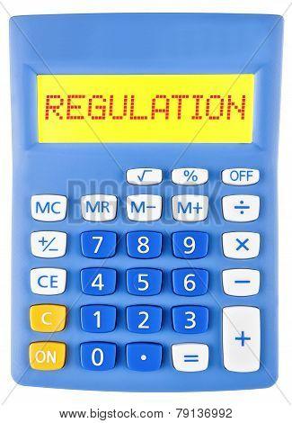 Calculator With Regulation