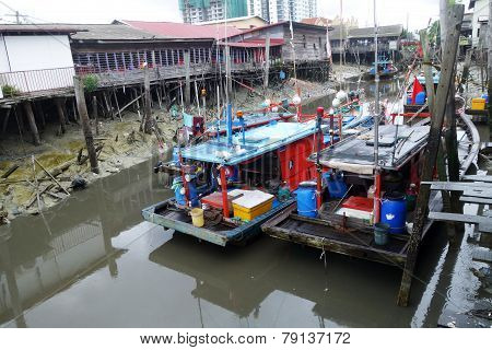 Colorful Chinese Fishing Boat