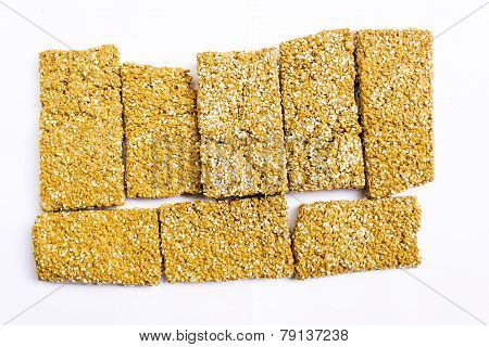 Sweet savoury made from jaggery paste & sesame seeds biscuits