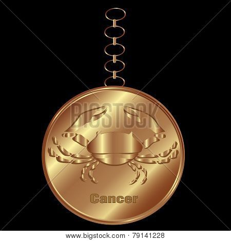 Bronze Charm For Cancer