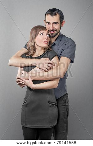 Young Embracing Couple In Love