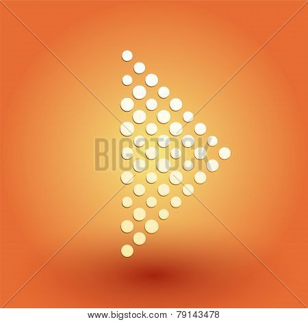 Play Symbol Of White Dots On An Orange Background