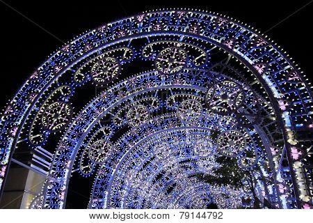 new year lighting in Hong Kong