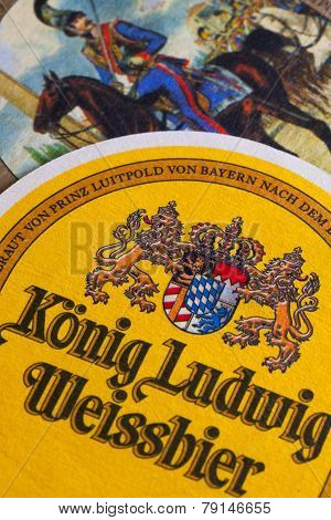 Beermats From Konig Ludwig Beer.