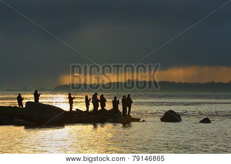 Garry Point, Steveston, Anglers
